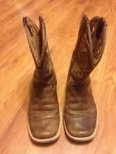 Kids Brown Ariat Cowboy Boots, Size 12
