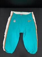#34 MIAMI DOLPHINS NIKE GAME USED AQUA CURRENT STYLE PANTS 2019/2020 SEASON