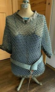 Medieval Aluminium Butted Chainmail Shirt for Role Play Theater Vintage Design