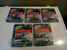 Johnny Lightning Surf Rods Set of 5 Trucks with bonus White Lightning