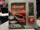 WinCraft Racing #9 Kasey Kahne Budweiser Team Desk Clock Time Date Temp NASCAR