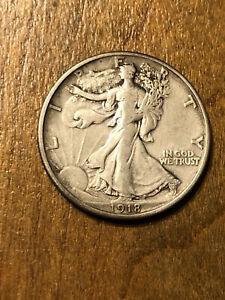 1918 Walking Liberty Half Dollar VF