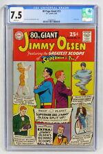 DC Comics 80 Page Giant #13 CGC 7.5 W/P Jimmy Olsen Swan Klein Silver Age 1965