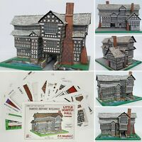 LITTLE MORETON HALL CHESHIRE FULL COLOUR A5 CARD MODEL CUT OUT KIT
