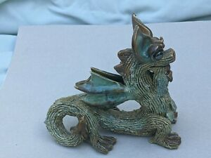 Yare Pottery Dragons  - Dragon forked tongue sticking out