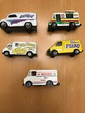 Diecast 1/64 Hot Wheels 1976 Matchbox 1986, 1983 Ice Cream Food Trucks Lot Of 5