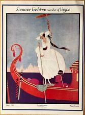 Vintage Vogue Magazine Poster June 1st 1916 Authorised 1970's Reprint 39x28cm 21