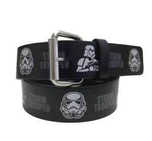 Kids Star Wars Storm Trooper Black Belt NWOT D4