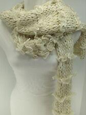 Women's RALPH LAUREN Ivory White Long Winter Scarf - $52 MSRP - 10%