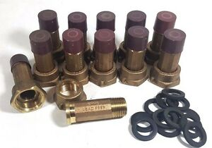 "(LOT/50) Water Meter Couplings, LEAD-FREE Brass, 5/8"" meter nut x 1/2"" Male NPT"