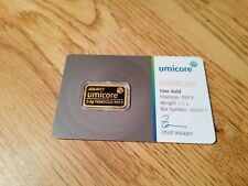 Goldbarren Umicore 2,5g mit Zertifikat