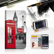 British Phone Booth Wallet TPU Case Cover for OPPO F1s A024