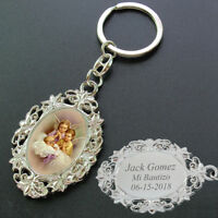 Personalized Baptism Favors 12 PCS Engraving keychain Baby Angel, Christening