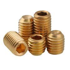 M3 M4 M5 M6 Solid Brass Grub Screw Cup Point Hex Socket Set Screws GB/T