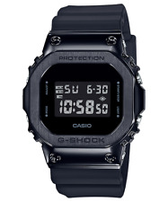 CASIO GM5600B-1 G-Shock Classic Steel Bezel Shock Resist Resin Black Men's Watch