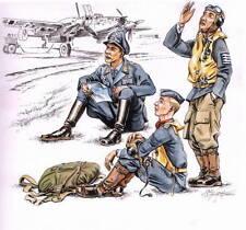CMK CZECH MASTER'S KITS F72112 - GERMAN PILOTS AT REST WWII - 1/72 RESIN KIT