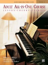 Alfred's Basic Adult All-In-One Piano Course: Level 1 Plastic Comb 1994 by Wi.