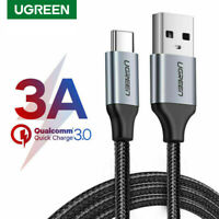 Ugreen USB Type C Fast Charging Cable 3A USBC Data Cord Fr Xiaomi Samsung Huawei