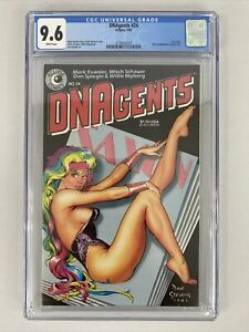 DNA Agents #24 🔥 CGC 9.6 WP! Eclipse Comics HTF! Dave Stephens Cover! 1985
