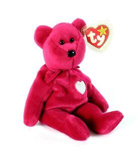 Valentina Bear Ty Beanie Baby New with Tags Retired Errors RARE 1998 Valentine's