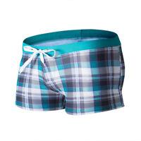 Men's Swim Trunks Boxer Shorts Pocket Tether Surf Board Beach Swimwear Swimsuit