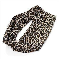 Marrone animale leopardato fascia TRATTO ELASTICO Striscia 8cm largo