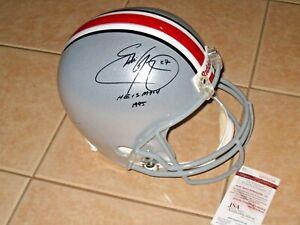 Eddie George #27 signed Ohio State Buckeyes Full Size Helmet OSU JSA Witness