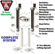 BULLDOG ELECTRIC 5TH WHEEL RV LANDING GEAR DUAL OUTPUT TRAILER JACK 10,000 lbs.
