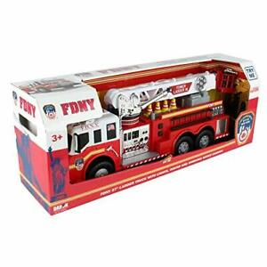 Daron FDNY 27' Ladder Truck with Lights Sounds and Working Water Cannon 2019 New