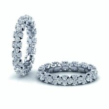 3.2 mm - 1.40 ct  Garland Round  Diamond Full Eternity Ring , White gold