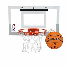 Spalding NBA Slam Jam Over-The-Door Mini Basketball Hoop, New, Free Shipping