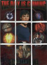Smallville Season 2 Complete The Day Is Coming Chase Card Set DC1-9