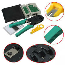 Network Ethernet Tool Kit Rj45 Rj11 Cat5e Cat5 Cable Tester Crimping Crimper Hvf