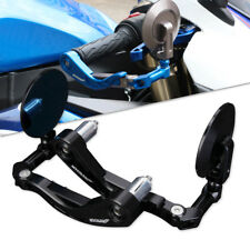 "7/8"" 22mm AltronGuard Motorcycle CNC Handle Bar End Rear View Side Mirrors Black"