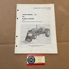 Predelivery Instructions Manual John Deere 35 Farm Loader