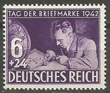 Germany (Third Reich) 1942 MNH - Stamp Day - Philatelist with Album