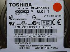 400 GB Toshiba MK4055GSX / HDD2H22 V UL01 T / G002439-0A disco rigido