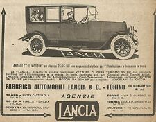 W9064 LANCIA - Landaulet Limousine - Pubblicità del 1917 - Vintage advertising