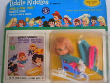 SUPER RARE ! LIDDLE KIDDLES FREEZY SLIDDLE # 3516 NEW ON CARD COMPLETE WITH BOOK