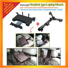 a short sturdy metal Headrest Mount for laptop and Netbook with universal holder