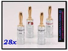 28 x Nakamichi HIGH EMBOUT FICHE BANANE FICHE (28 pièces rouge et Noir