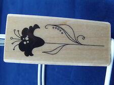 NEW INKADINKADO WOOD MOUNTED RUBBER STAMP FLOWER 98416MM 378
