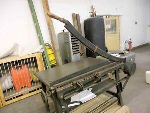 Antike Gusseisen Papier Foto Kartonschneidemaschine Schneidetisch Messer L115cm