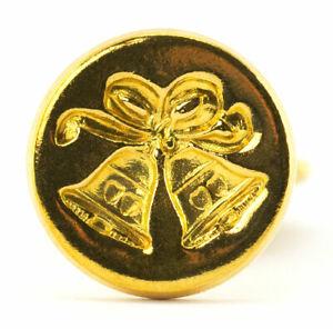Freund Mayer Genuine Brass Wax Seal Stamp Made in Italy Wedding Bells Design