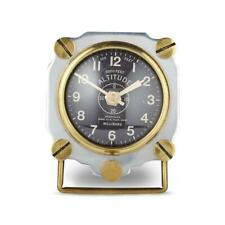 Altimeter Table Clock Aluminum - Aviator WWII Aircraft