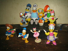 """10 RARE HTF DISNEY'S DONALD DUCK & DAISY COLLECTABLE FIGURES LOT ,"""" SOLD AS IS """""""