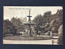 Vintage RPPC: Durham: #T10: Fountain In Park, Hartlepool: Posted 1945