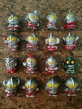 90's Vintage Bandai Japan SD Ultraman Mini Figures Collection 16 In All