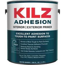 New listing Kilz 1 Gal. Interior/Exterior Water Base Adhesion Bonding Primer L211111 - 1