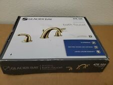 Glacier Bay Builders 8 in.Widespread 2 Handle High-Arc Bathroom Faucet in BRASS
